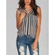 DIVA LOUNGE Open Pocket Striped Womens Top