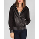Roxy Womens Faux Leather Baseball Jacket