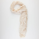 Scalloped Edge Lace Panel Scarf