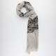 Flower Lace Panel Scarf