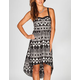 LOTTIE & HOLLY Ethnic Print Hi Low Corset Dress