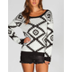 FULL TILT Ethnic Stripe Womens Bar Back Sweater
