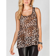 FULL TILT Cheetah Womens Lace Back Babydoll