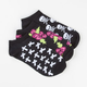 FULL TILT 3 Pack Skulls/Crosses/Roses Womens No Show Socks