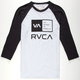 RVCA Flipped Box Mens Baseball Tee