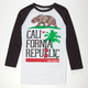 RIOT SOCIETY Tropical Cali Mens Baseball Tee