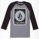 VOLCOM Box Stain Mens Baseball Tee