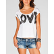 FULL TILT Love Womens Cut Out Tee