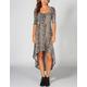 FULL TILT Leopard Print Hi Low Dress
