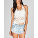 MISS CHIEVOUS Womens Crochet Tank