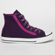CONVERSE Chuck Taylor Double Zipper Hi Girls Shoes