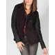 FULL TILT Womens Faux Leather Sleeve Trench Coat