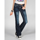 ZCO Stone Cross Womens Bootcut Jeans