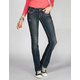 HYDRAULIC Embroidered Flap Pocket Womens Bootcut Jeans