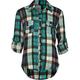 FULL TILT Studded Plaid Girls Shirt