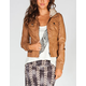FULL TILT Sweater Hood Womens Faux Leather Jacket