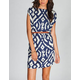 ANGIE Ethnic Print Belted A Line Dress