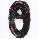 Square Knit/Floral Chiffon Figure 8 Infinity Scarf
