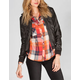 FULL TILT Womens Faux Leather Jacket