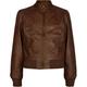 FULL TILT Zip Collar Girls Faux Leather Jacket