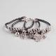 FULL TILT 3 Row Faux Leather Mystical Charm Bracelet