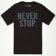 US VERSUS THEM Never Stop Mens T-Shirt
