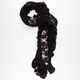 Floral Lace Ruffle Scarf