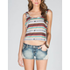 FULL TILT Ethnic Stripe Womens Button Back Tank