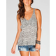 FULL TILT Cheetah/Stripe Womens Tank