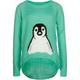 FULL TILT Penguin Girls Hi Low Sweater