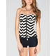 FULL TILT Chevron Stripes Womens Corset Top