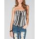 FULL TILT Stripe Womens Zip Front Corset Top