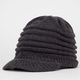 Ribbed Knit Womens Visor Beanie
