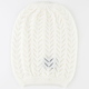 Open Knit Chevron Beanie