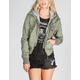 ASHLEY Womens Hooded Twill Bomber Jacket