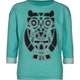 FULL TILT Shield Seam Owl Girls Sweatshirt