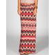 LILY WHITE Multi Ethnic Print Maxi Skirt