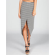 LILY WHITE Front Slit Skirt