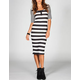 FULL TILT Striped Midi Dress