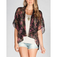 LOTTIE & HOLLY Womens Kimono Bed Jacket