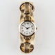 JESSIE CARLYLE Metallic Faux Leather Band Watch