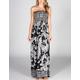 ANGIE Paisley Scarf Maxi Dress