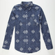 STRAIGHT FADED Batik Print Mens Shirt