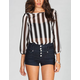 LIVE 4 TRUTH Stripes Womens Bow Back Top