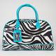 Zebra Double Zip Duffle Bag