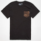 VANS Black Cheetah Mens Pocket Tee