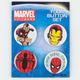 MARVEL Iron Man/Spiderman Button Set