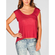 FULL TILT Womens Hi Low Pocket Tee