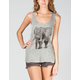 FULL TILT Elephant Womens Slash Back Tank