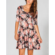 FULL TILT Floral Twist Back Dress